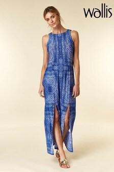 Wallis Blue Aztec Maxi Dress