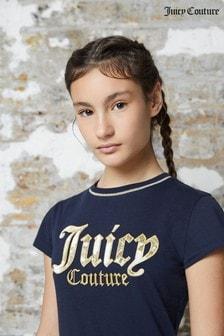 Juicy Couture Blue Floral Glitz T-Shirt