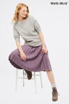 White Stuff Purple Stem Shimmer Skirt