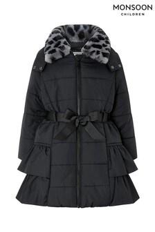 Monsoon Children Black Lola Padded Coat