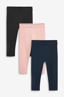 3 Pack Basic Leggings (3mths-7yrs)