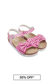 Girls Cream Sandals