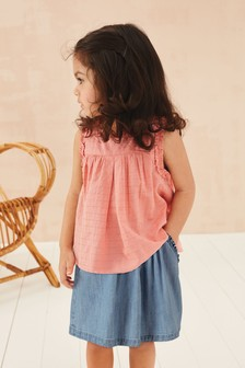 Sleeveless Cotton Blouse (3mths-7yrs)