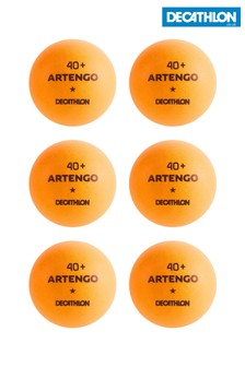 Decathlon 40+ 6-Pack Table Tennis Balls Pongori