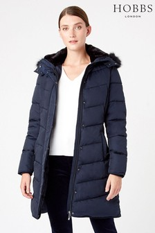 Hobbs Blue Lilian Padded Jacket