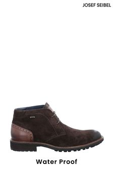 Josef Seibel Brown Jasper Waterproof Lace-Up Boots
