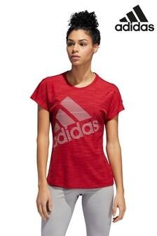 adidas Red Badge Of Sport Logo T-Shirt