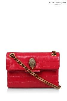 Kurt Geiger London Red Croc Mini Kensington Bag