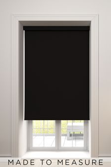 Haig Espresso Brown Made To Measure Blackout Roller Blind