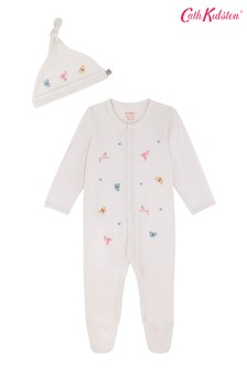 Cath Kidston® Pink Fantasy Forest Sleepsuit And Hat Set