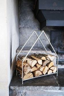 Pewter Contemporary Log Storage by Ivyline