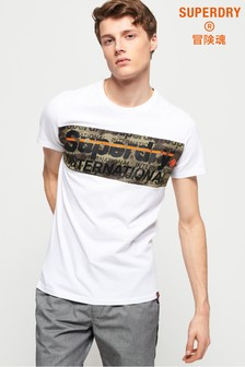 Superdry International Camo Panel T-Shirt