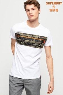 Superdry International Camo Panel T-Shirt