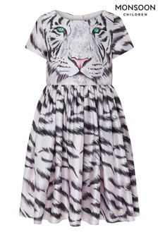 Monsoon Children Pink S.E.W Recycled Animal Face Dress