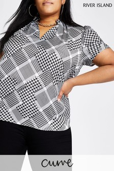 River Island Dogtooth Top