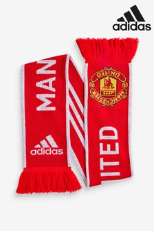 adidas Red Manchester United Scarf