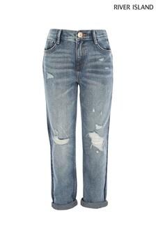 River Island Blue Storm Mom Jeans
