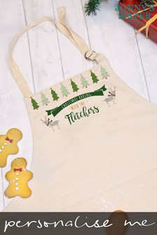 Personalised Christmas Apron by Jonnys Sister