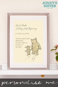 Personalised Winnie The Pooh Nursery Print by Jonnys Sister