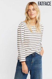 FatFace Natural Organic Cotton Blend Fleur Breton T-Shirt