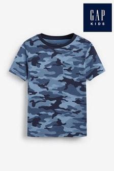Gap Blue Camouflage Print T-Shirt