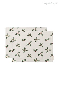 Set of 2 Sophie Allport Holly And Berry Placemats