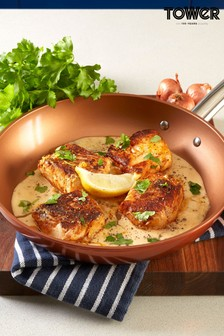 Tower Copper Forged Frying Pan