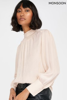 Monsoon Cream Fiona Jacquard Top