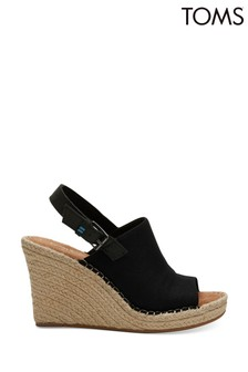 TOMS Black Oxford Monica Sandals