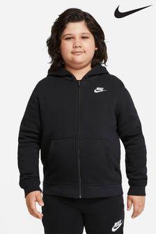Nike Plus Club Fleece Zip Through Hoodie