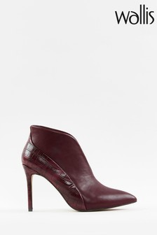 Wallis Patch Mulberry V Throat Pointed Boots