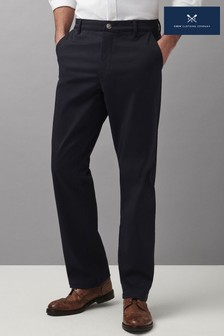 Crew Clothing Company Blue Ultimate Straight Chinos