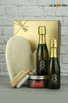 Mini Prosecco Bathtime Spa Gift by Le Bon Vin