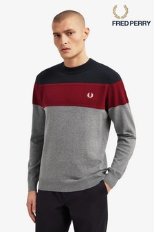 Fred Perry Panelled Jumper