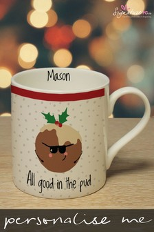 Personalised All Good In The Pud Mug by Signature PG