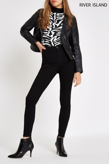 River Island Black Harper High Rise Jean