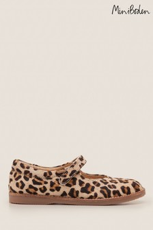 Boden Brown Leather Mary Janes