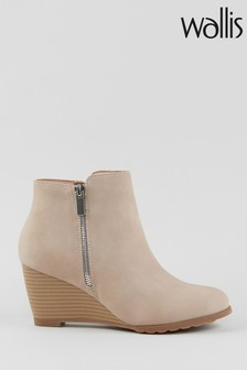 Wallis Astonishing Nude Side Zip Wedges