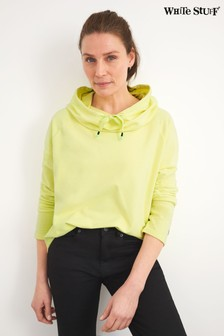 White Stuff Yellow Cowl Neck Sweat Top