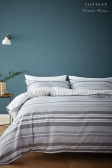 Kingston Stripe Duvet Cover and Pillowcase Set by Content by Terence Conran