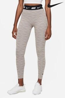 Nike Grey Club High Waist Printed Leggings