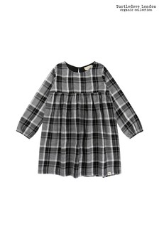 Turtledove London Black Check Woven Dress