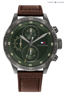 Tommy Hilfiger Watch With Brown Leather Strap