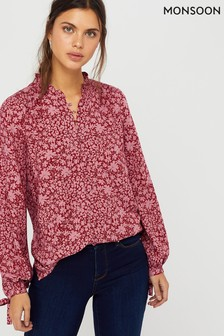 Monsoon Pink Bromount Ecovero Shimmer Blouse