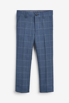 Windowpane Check Formal Trousers (3-16yrs)