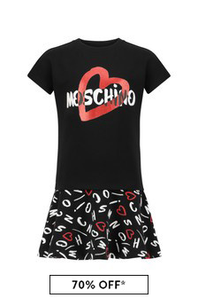 Girls Black Cotton Dress