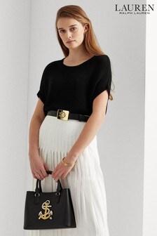 Lauren Ralph Lauren® Black Short Sleeve Relaxed Fit Rowina Jumper