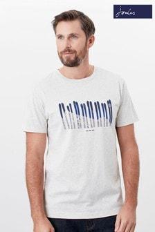 Joules Cream Flynn Graphic Print Crew Neck T-Shirt