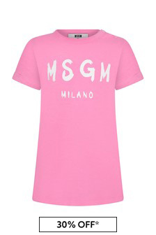 MSGM Baby Girls Pink Cotton Dress