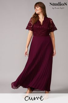 Studio 8 Red Ramona Lace Maxi Dress